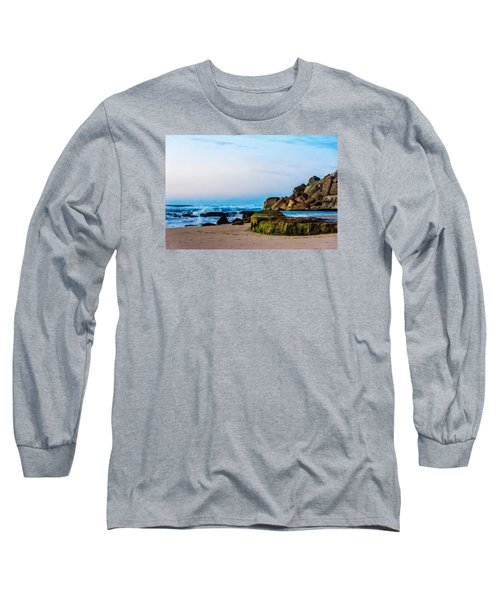 Long Sleeve T-Shirt featuring the photograph Vibrant Seascape At Twilight by Marion McCristall