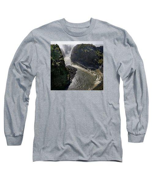Victoria Falls Long Sleeve T-Shirt by Joe Bonita