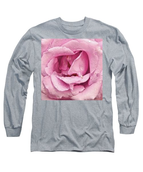 Victorian Pink Rose Bloom Long Sleeve T-Shirt by Scott Cameron