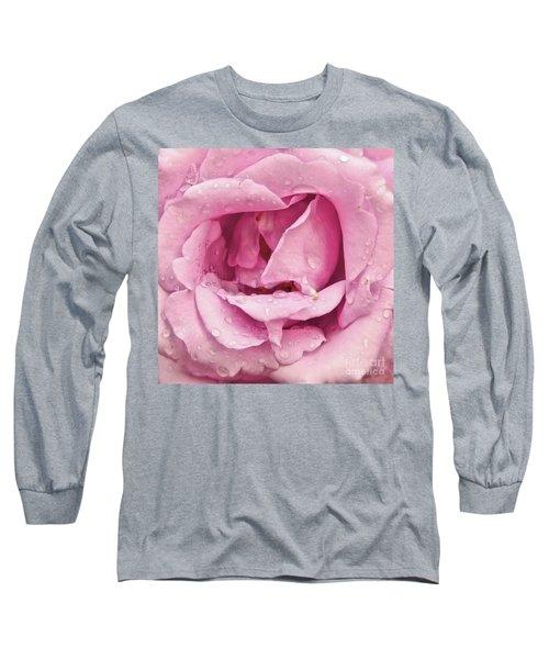 Victorian Pink Rose Bloom Long Sleeve T-Shirt