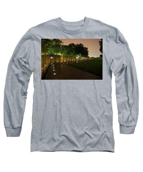 Vietnam Memorial By Night Long Sleeve T-Shirt