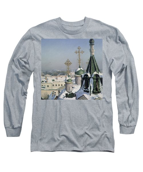 View From A Window Of The Moscow School Of Painting Long Sleeve T-Shirt by Sergei Ivanovich Svetoslavsky