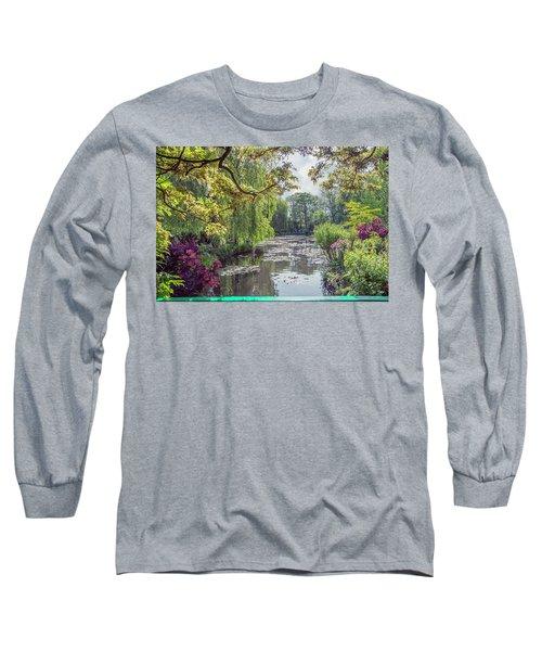 View From Monet's Bridge Long Sleeve T-Shirt