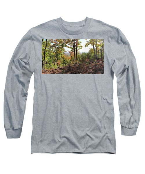 View From The Top Of Brown's Mountain Trail, Kings Mountain Stat Long Sleeve T-Shirt