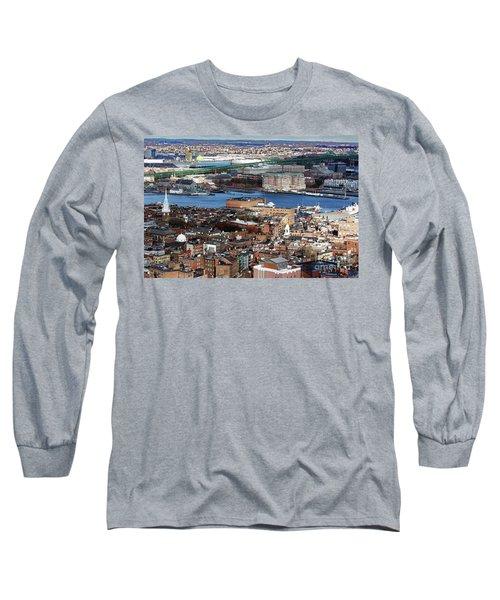 View Of Charlestown Navy Yard Long Sleeve T-Shirt