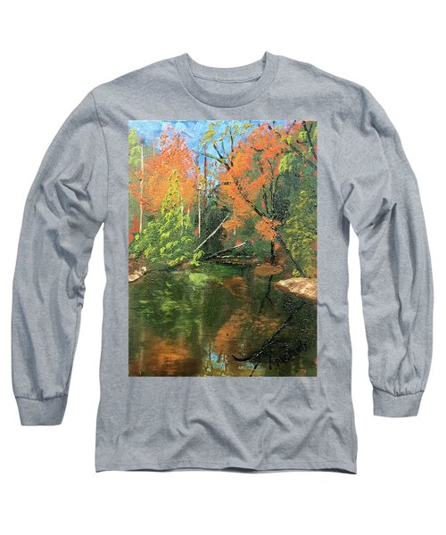 View Of Creek From Lake Huron Long Sleeve T-Shirt