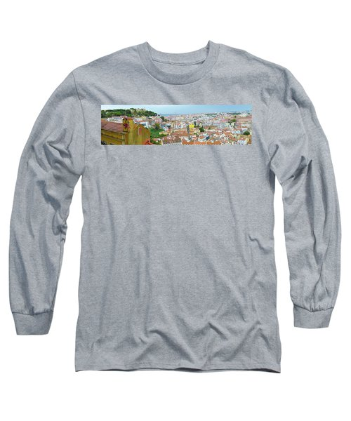Long Sleeve T-Shirt featuring the photograph View Of Lisbon by Patricia Schaefer