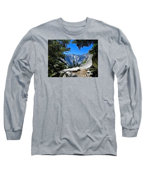 View Of The Sphinx Long Sleeve T-Shirt by Amelia Racca