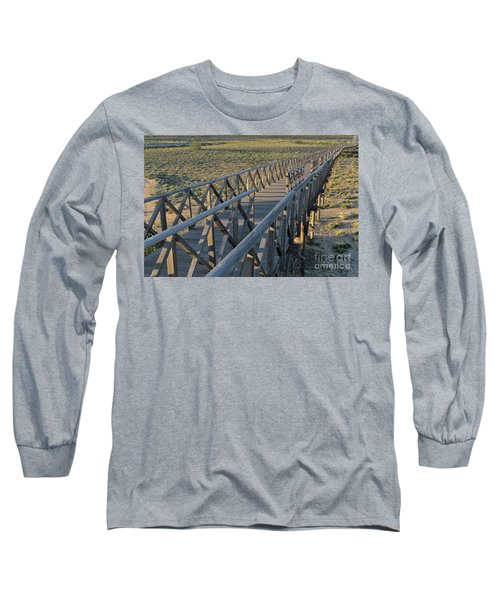 View Of The Wooden Bridge In Quinta Do Lago Long Sleeve T-Shirt