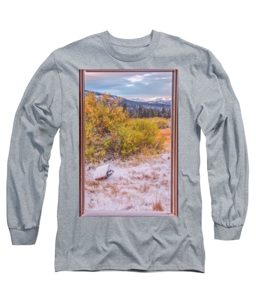 View Out Of A Broken Window Long Sleeve T-Shirt by Marc Crumpler
