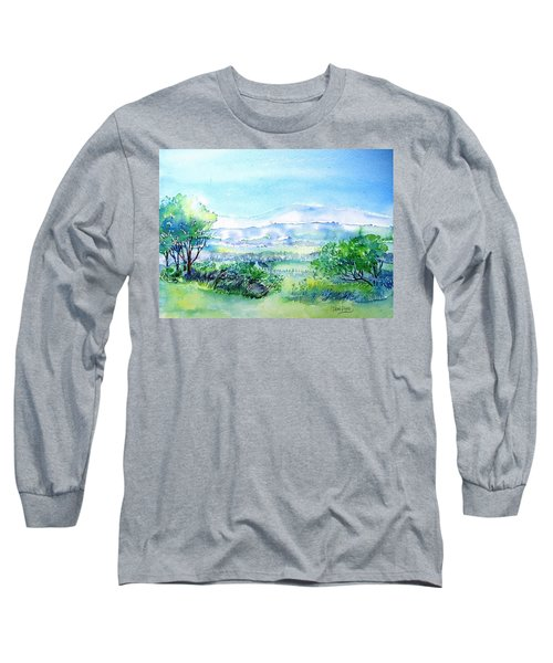 View Through The Gap,wicklow  Long Sleeve T-Shirt by Trudi Doyle