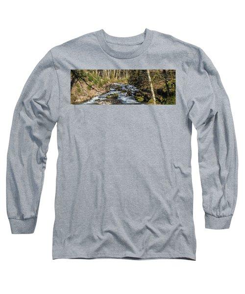 Views Of A Stream, II Long Sleeve T-Shirt by Chuck Flewelling