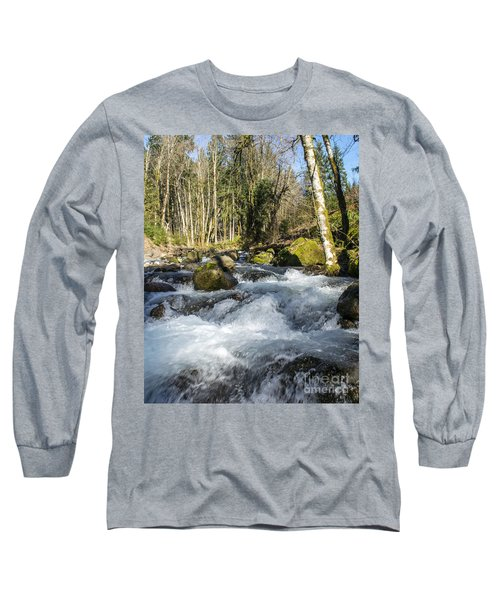 Views Of A Stream, IIi Long Sleeve T-Shirt