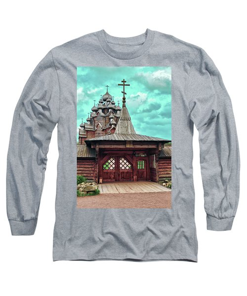 views of Holy gates and Church of the Intercession of the blessed virgin Mary Long Sleeve T-Shirt