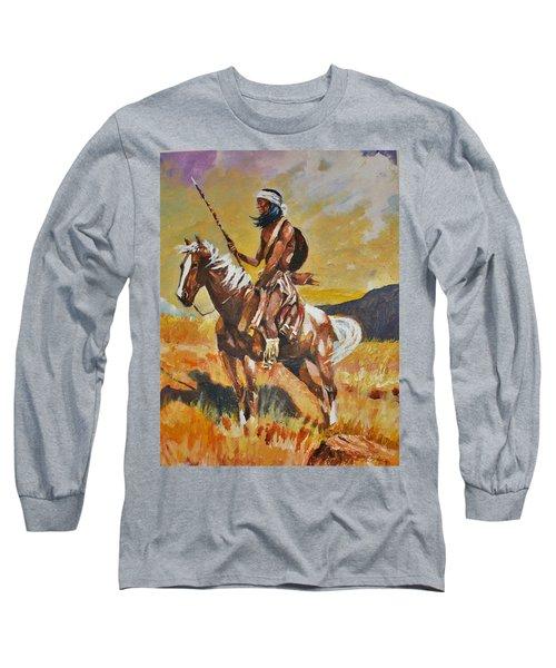 Vigilante Apache Long Sleeve T-Shirt by Al Brown