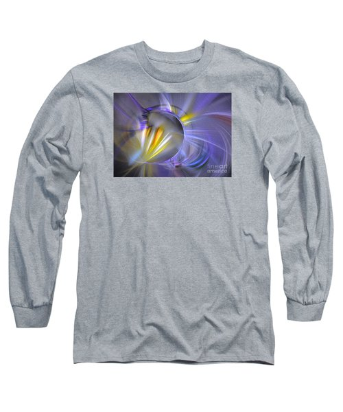 Vigor - Abstract Art Long Sleeve T-Shirt by Sipo Liimatainen