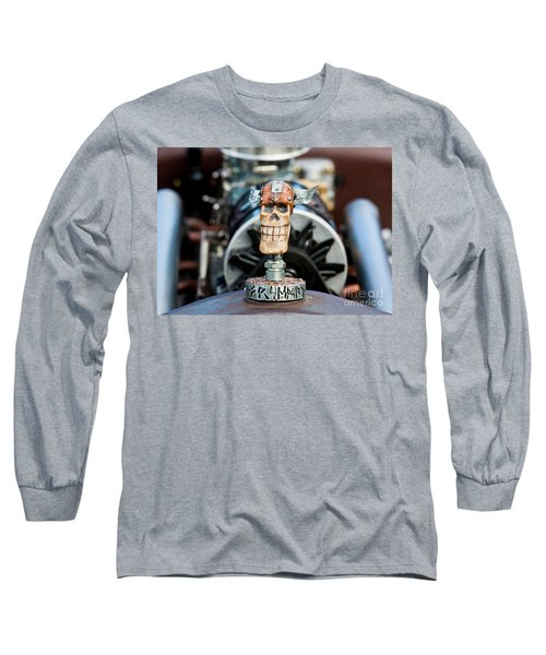Long Sleeve T-Shirt featuring the photograph Viking Skull Hood Ornament by Chris Dutton