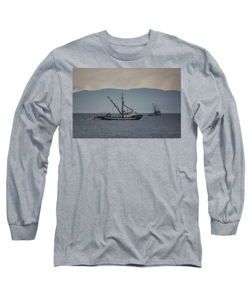 Viking Sunrise Long Sleeve T-Shirt by Randy Hall