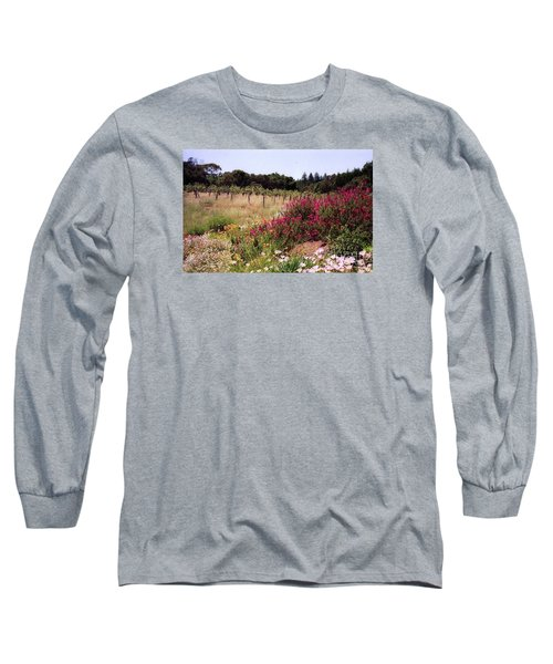 vines and flower SF peninsula Long Sleeve T-Shirt by Ted Pollard