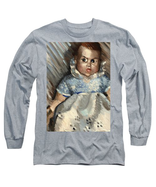 Vintage Baby Art Print Long Sleeve T-Shirt