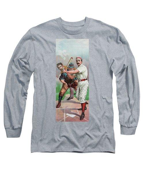 Vintage Baseball Card Long Sleeve T-Shirt by American School