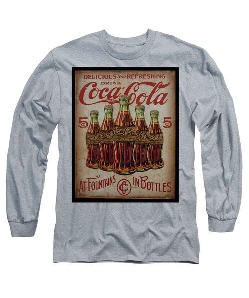 vintage Coca Cola sign Long Sleeve T-Shirt