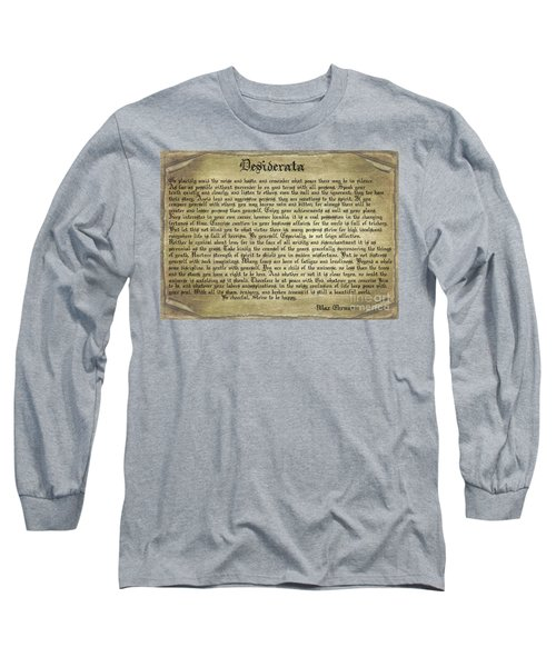 Vintage Desiderata Long Sleeve T-Shirt