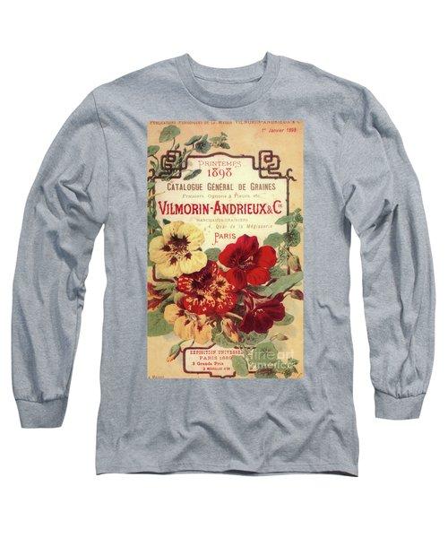 Vintage Flower Seed Cover Paris Rare Long Sleeve T-Shirt