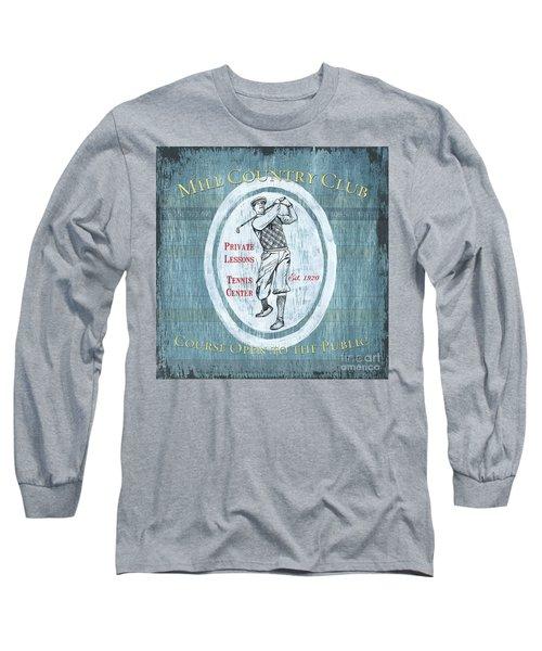 Vintage Golf Blue 2 Long Sleeve T-Shirt