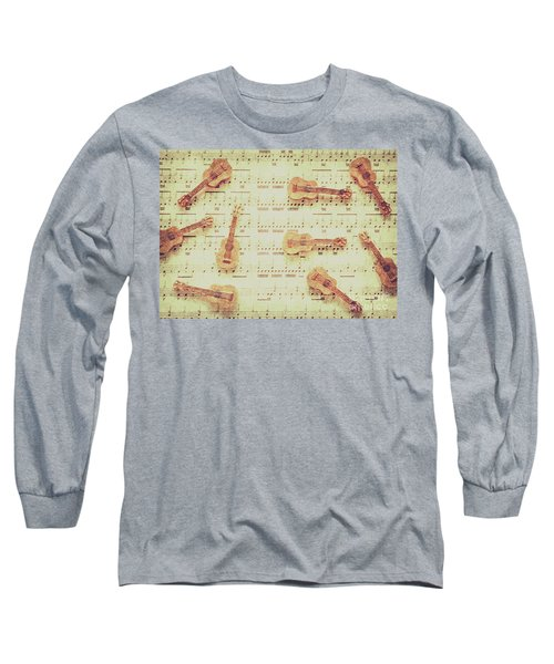 Vintage Guitar Music Long Sleeve T-Shirt