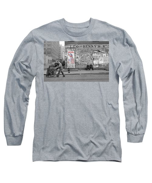 Vintage Hockey Poster Long Sleeve T-Shirt