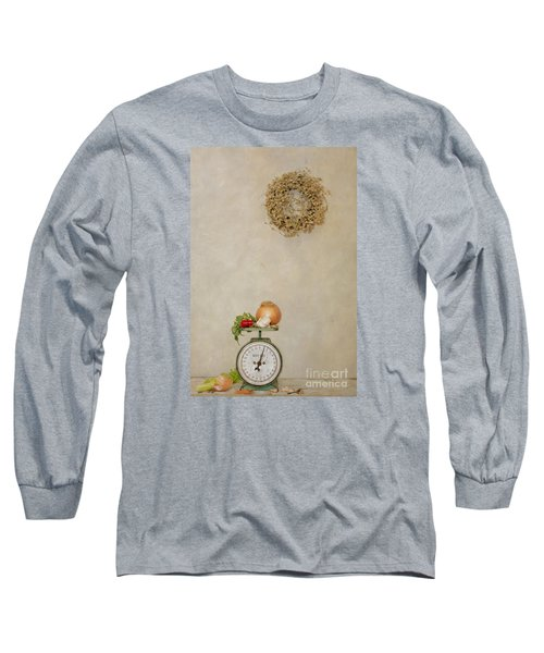 Vintage Household Scale And Vegtables Long Sleeve T-Shirt