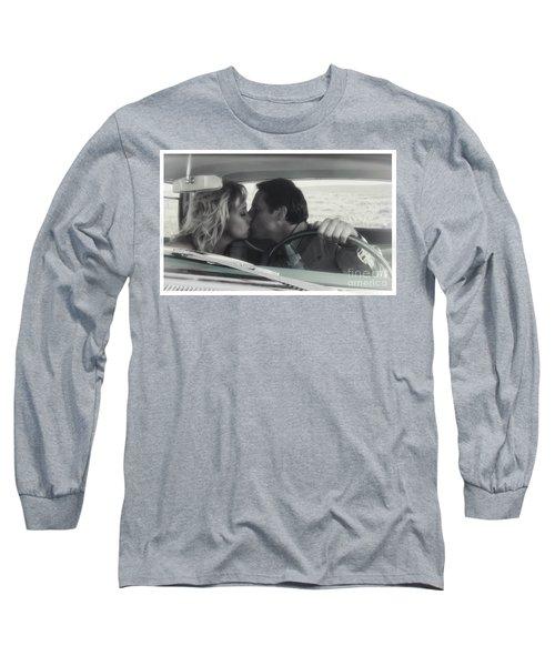 Vintage Kiss Long Sleeve T-Shirt by Brad Allen Fine Art