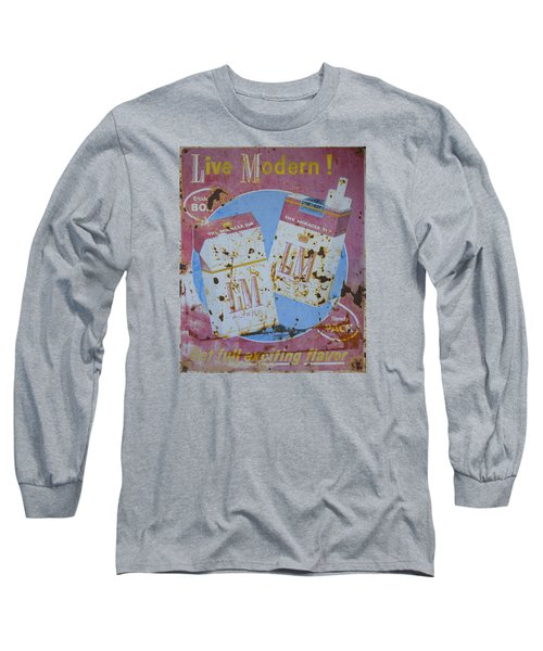 Vintage L And M Cigarette Sign Long Sleeve T-Shirt by Christina Lihani