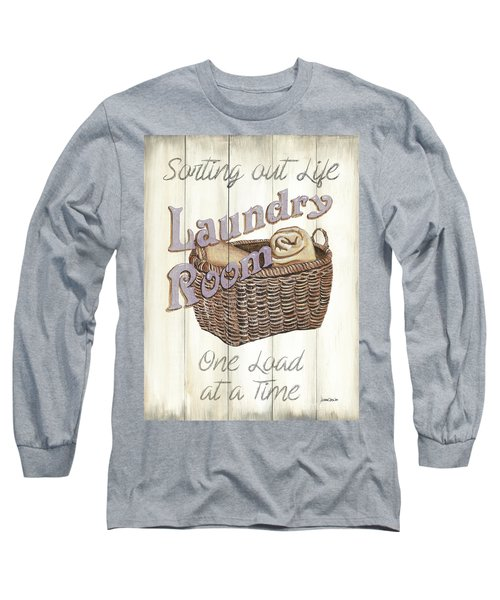 Long Sleeve T-Shirt featuring the painting Vintage Laundry Room 2 by Debbie DeWitt