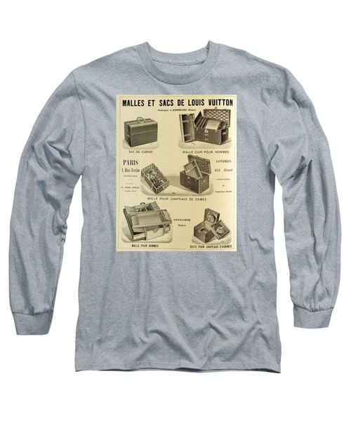 Vintage Louis Vuitton Advertisement - 1898 Long Sleeve T-Shirt