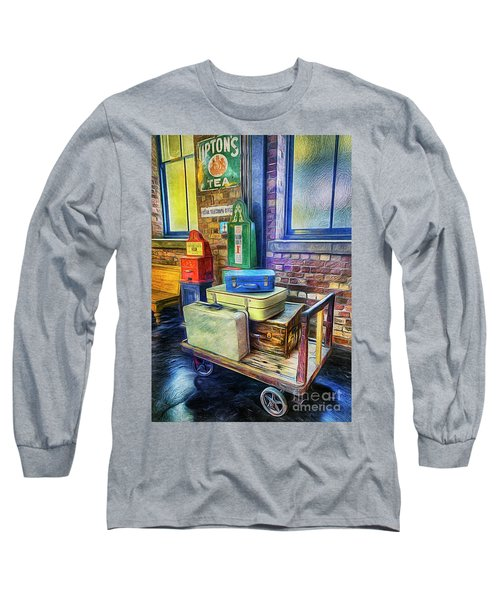 Vintage Luggage Long Sleeve T-Shirt