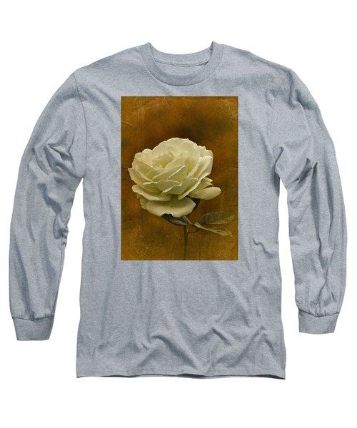 Vintage November White Rose Long Sleeve T-Shirt