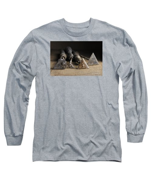 Long Sleeve T-Shirt featuring the photograph Vintage Paint Scrapers. by Trevor Chriss