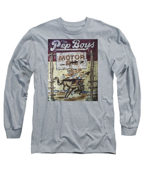 Vintage Pep Boys Sign Long Sleeve T-Shirt