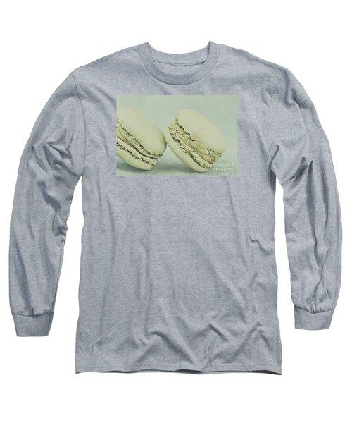 Vintage  Pistachio Macarons Long Sleeve T-Shirt