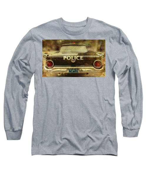 Vintage Police Car - Baltimore, Maryland Long Sleeve T-Shirt