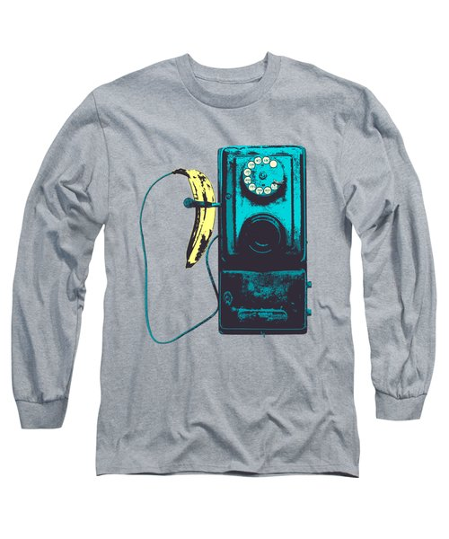 Vintage Public Telephone Long Sleeve T-Shirt by Illustratorial Pulse