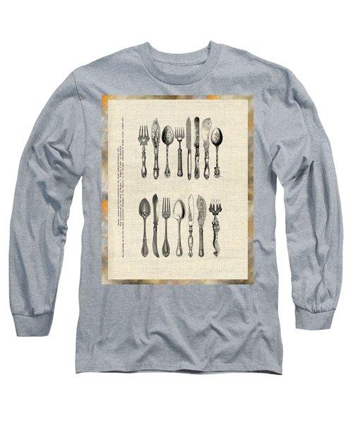 Vintage Silverware Long Sleeve T-Shirt