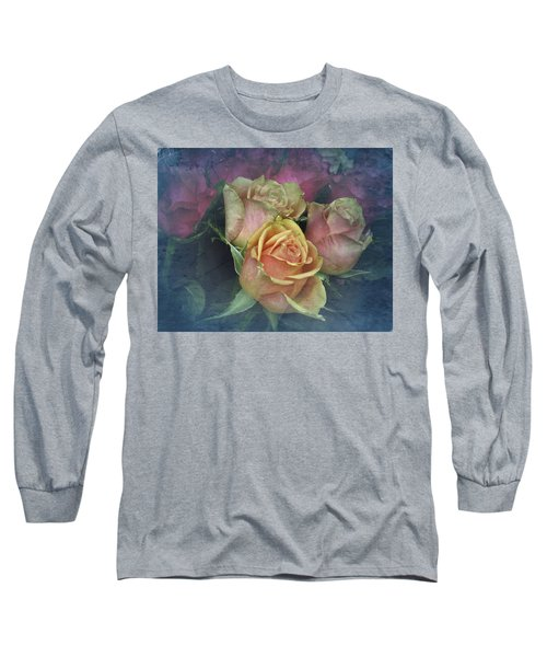 Vintage Sunday Roses Long Sleeve T-Shirt by Richard Cummings