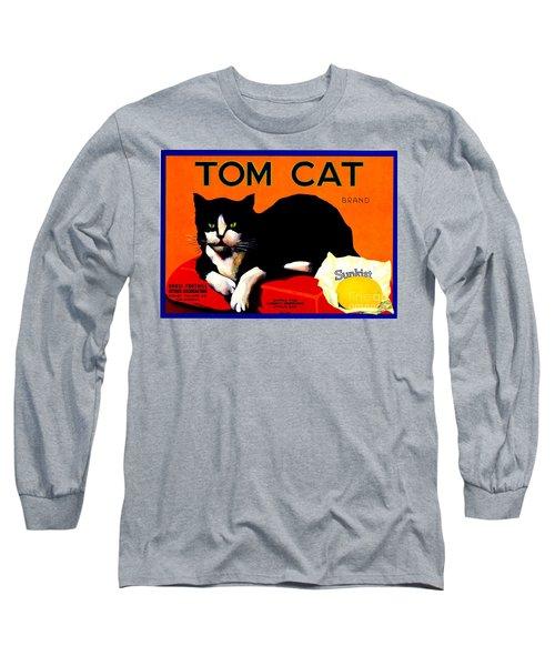 Vintage Sunkist Tom Cat Long Sleeve T-Shirt by Peter Gumaer Ogden