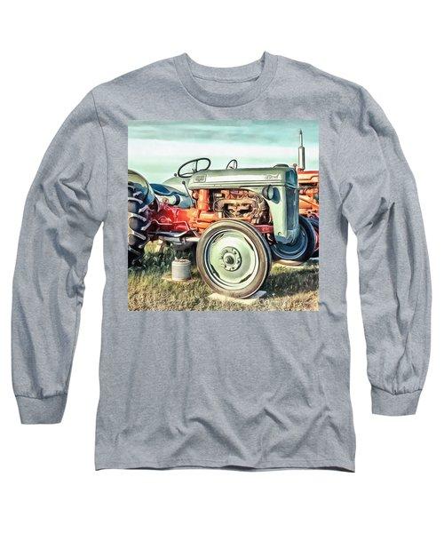 Vintage Tractors Pei Square Long Sleeve T-Shirt