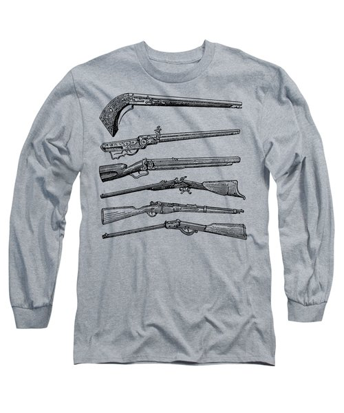 Vintage Weapons Antique Guns Dictionary Art Long Sleeve T-Shirt