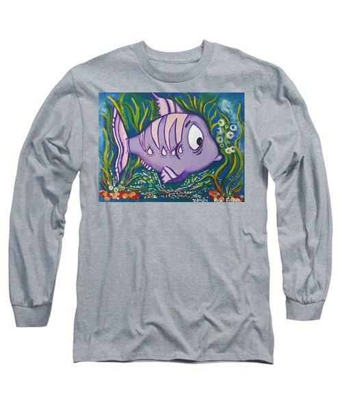 Violet Fish Long Sleeve T-Shirt by Rita Fetisov