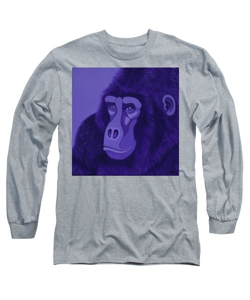 Violet Gorilla Long Sleeve T-Shirt